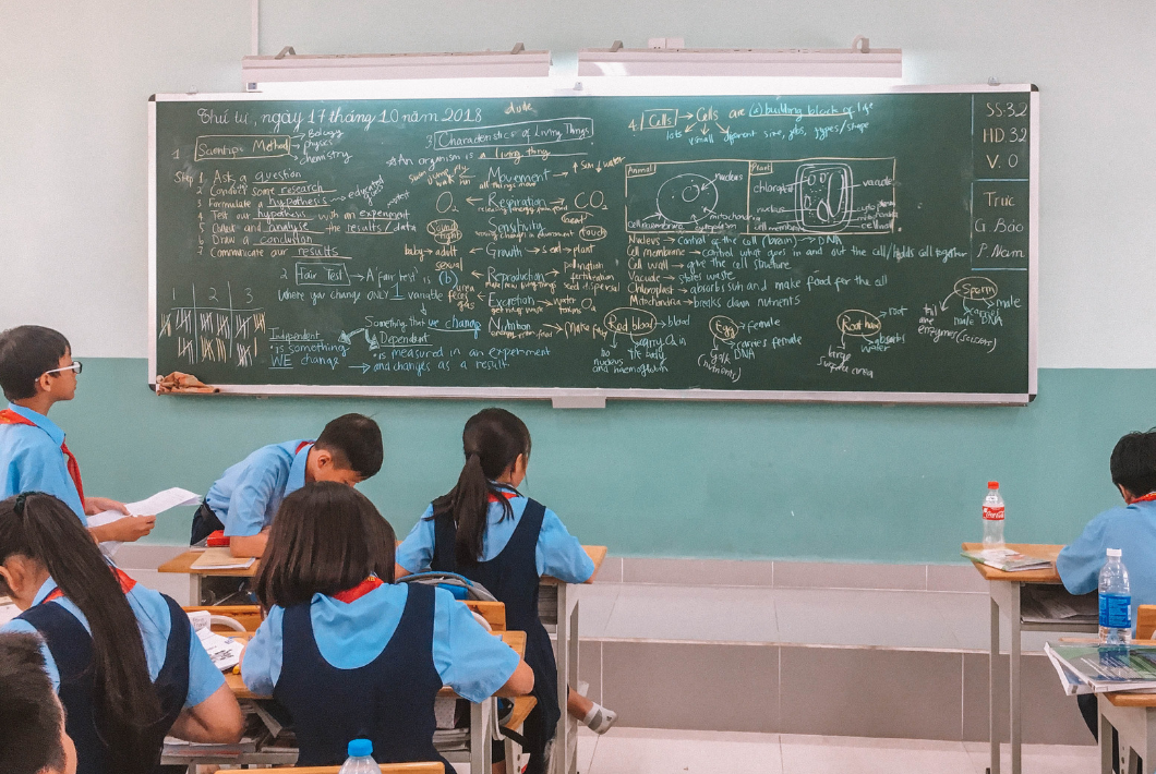 teaching science and maths in Vietnam EMG Education public school