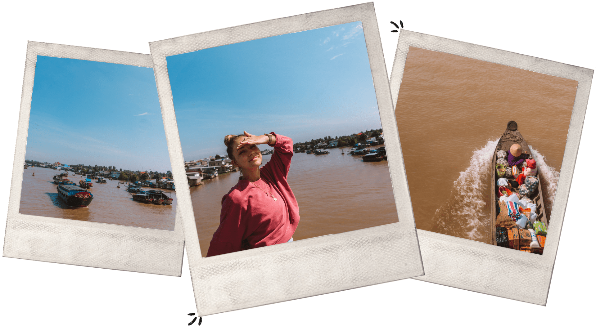 Chi Be floating market Mekong Delta Vietnam